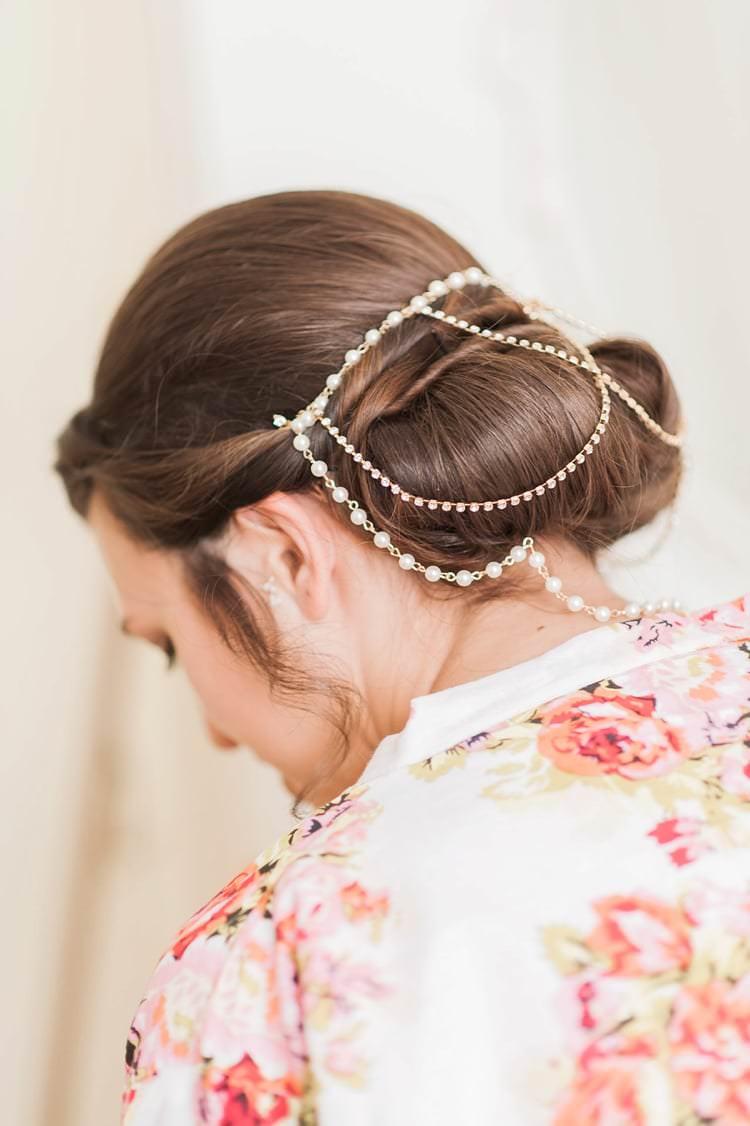Hair Bride Bridal Twist Up Chain Headdress Accessory Multicoloured DIY Rustic Wedding http://vickylamburn.com/