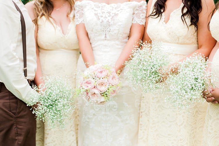 Gyp Gypsophila Baby Breath Bridesmaid Bouquets Flowers Multicoloured DIY Rustic Wedding http://vickylamburn.com/