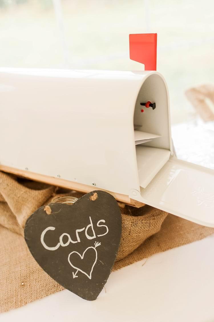 US Mailbox Cards Multicoloured DIY Rustic Wedding http://vickylamburn.com/