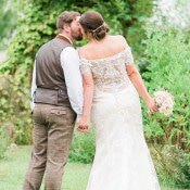 Multicoloured DIY Rustic Marquee Wedding