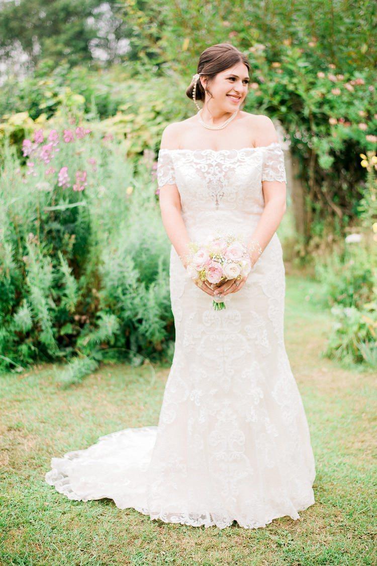 Dakota by Sottero and Midgley Lace Off Shoulder Bardot Dress Gown Bride Bridal Multicoloured DIY Rustic Wedding http://vickylamburn.com/