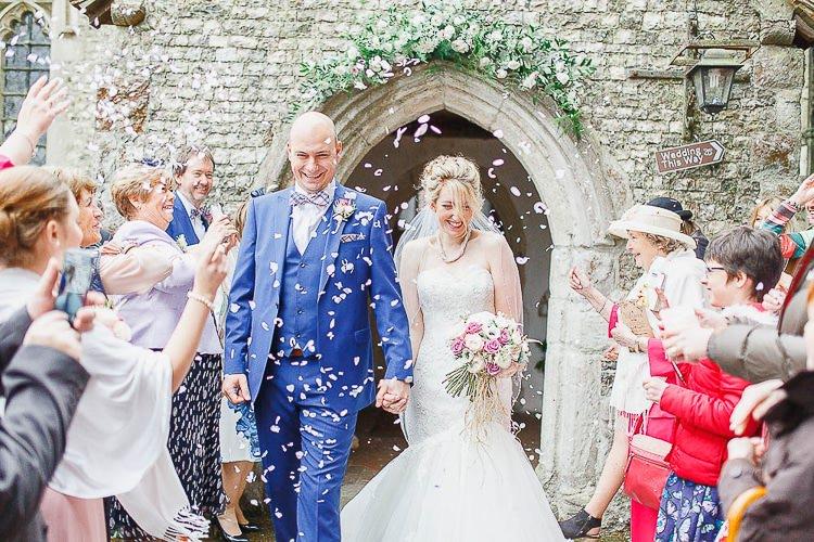 Confetti Throw Bride Groom Outdoorsy Nature Pretty Pink Wedding http://whitestagweddings.com/