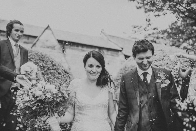 Confetti Whimsical Bright Village Hall Wedding http://www.beckyryanphotography.co.uk/