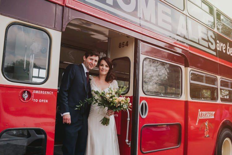 London Bus Transport Whimsical Bright Village Hall Wedding http://www.beckyryanphotography.co.uk/