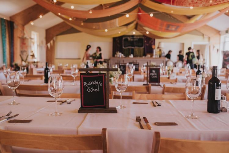 Table Names Chalk Black Boards Whimsical Bright Village Hall Wedding http://www.beckyryanphotography.co.uk/