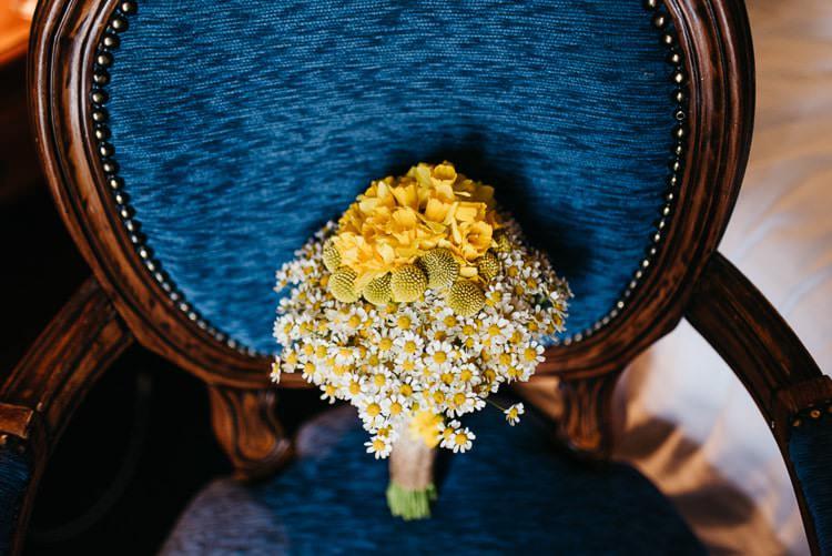 Daisy Billy Ball Hydrangea Bouquet Flowers Bride Bridal Creative DIY Yellow Wedding http://elainewilliamsphoto.com/