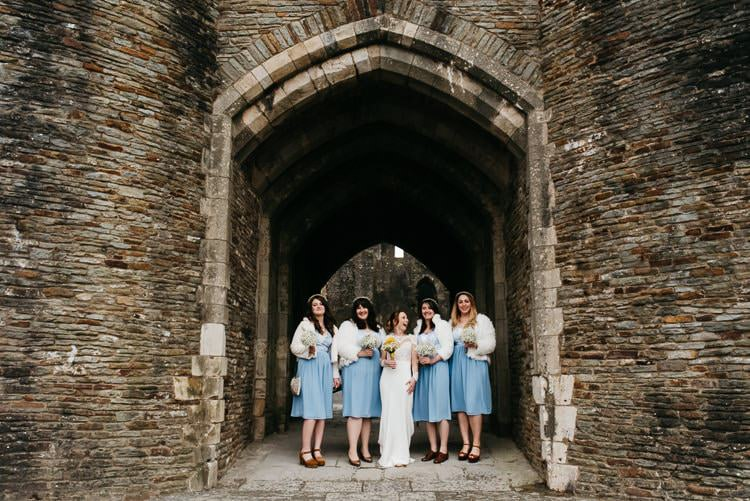Pale Blue Bridesmaid Dresses Creative DIY Yellow Wedding http://elainewilliamsphoto.com/