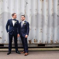 Urban London Stylish Navy White Wedding http://karibellamy.com/