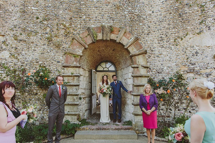 Lewes Castle Ruins Ceremony Whimsical Outdoor Floral Wedding http://www.lukehayden.co.uk/