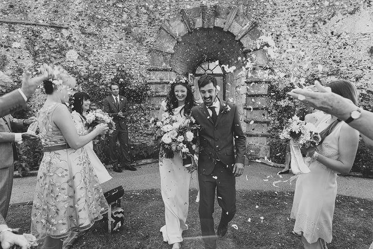 Confetti Throw Bride Groom Whimsical Outdoor Floral Wedding http://www.lukehayden.co.uk/