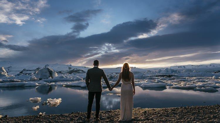 Glacier Lagoon Iceland Anniversary Shoot