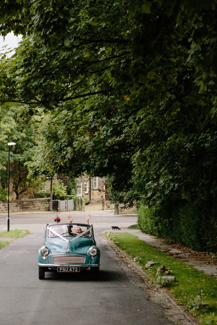Moris Minor Car Transport Informal Vintage Personal Wedding http://www.marknewtonweddings.co.uk/