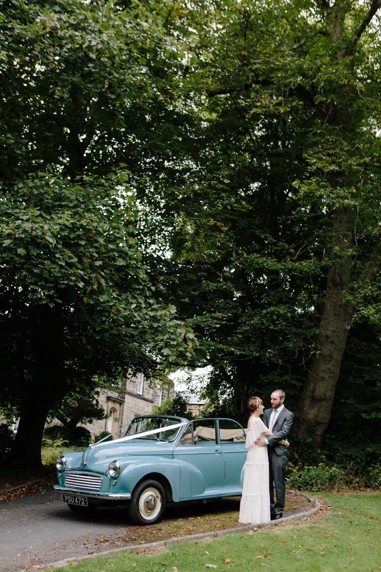 Moris Minor Transport Car Informal Vintage Personal Wedding http://www.marknewtonweddings.co.uk/
