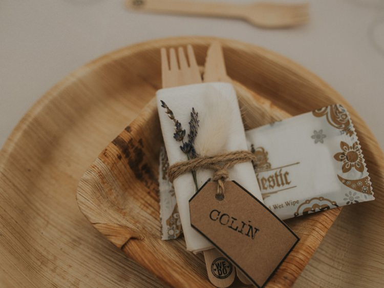 Luggage Tag Lavender Place Name Setting Creative Relaxed Child Friendly Wedding http://www.brookrosephotography.co.uk/