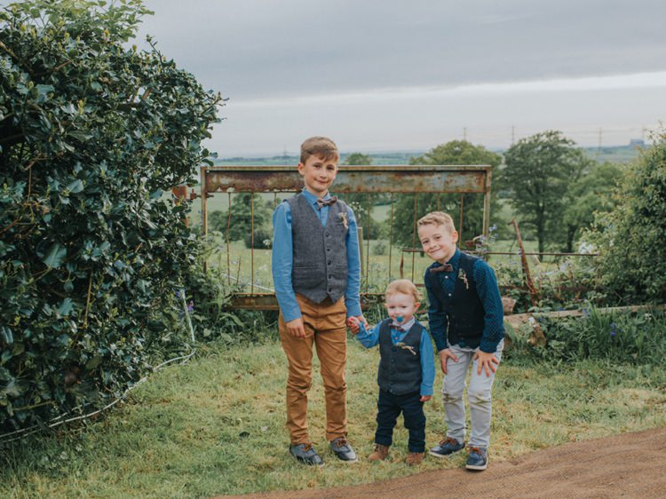 Waistcoat Bow Tie Page Boys Mismatched Creative Relaxed Child Friendly Wedding http://www.brookrosephotography.co.uk/