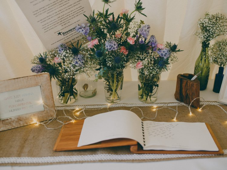 Wooden Guest Book Creative Relaxed Child Friendly Wedding http://www.brookrosephotography.co.uk/