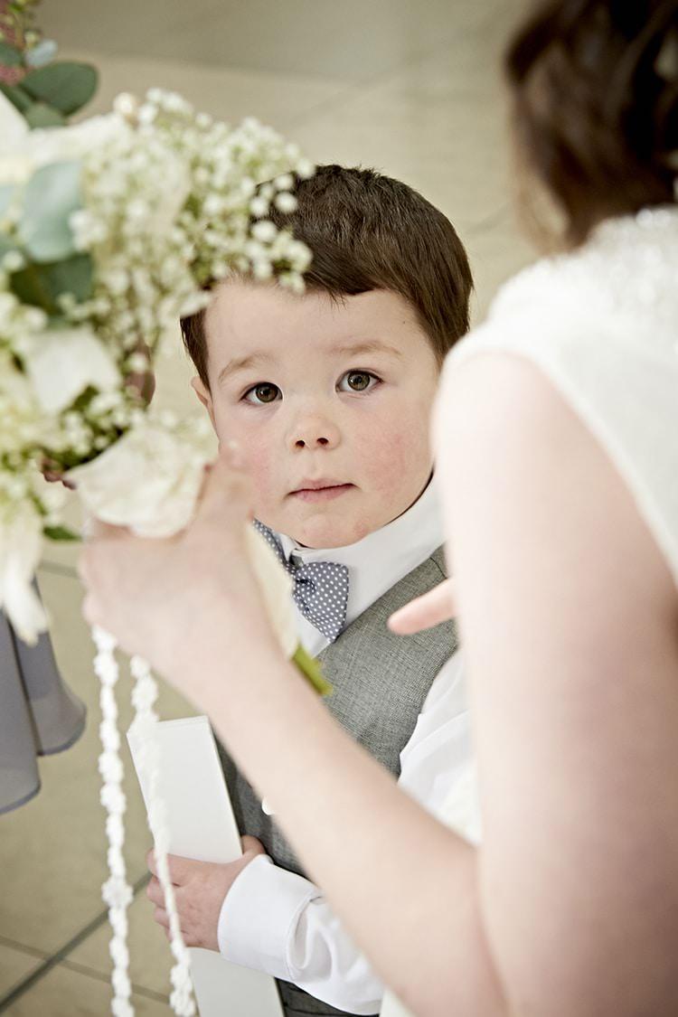Bow Tie Page Boy Modern Mint Gold Grey City Wedding http://www.studiocano.co.uk/
