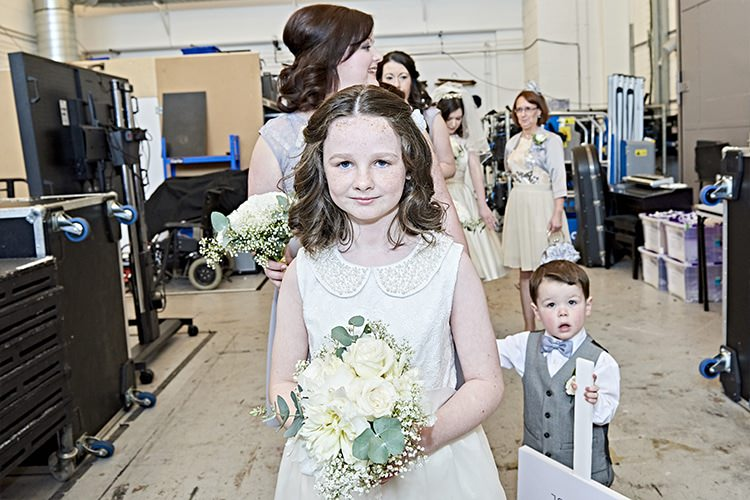Peter Pan Collar Flower Girl Bridesmaid Dress Modern Mint Gold Grey City Wedding http://www.studiocano.co.uk/