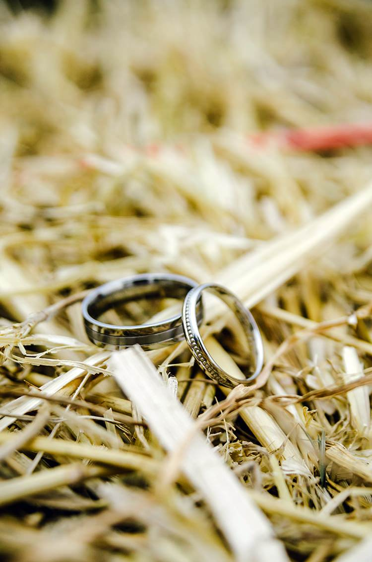 Rings Bands Bride Groom Rustic Relaxed Country Garden Wedding http://www.dmcclane.com/