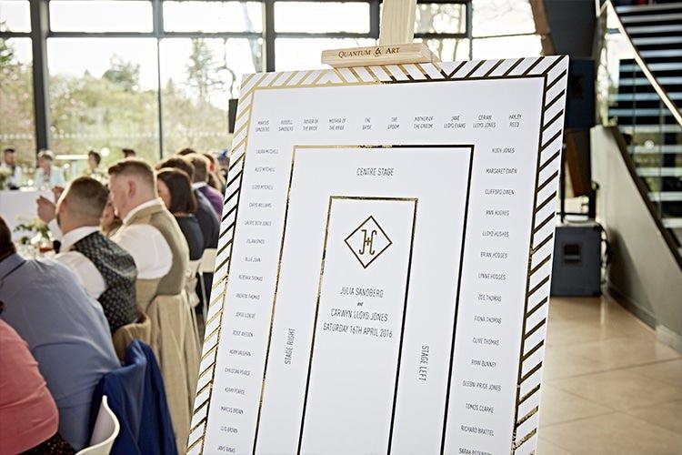 Stationery Seating Table Plan Chart Modern Mint Gold Grey City Wedding http://www.studiocano.co.uk/