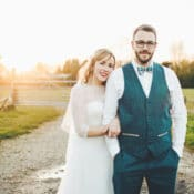 Colourful Home Made Spring Country Wedding
