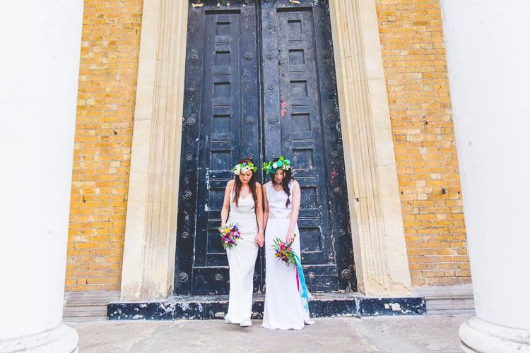 La Poesie Dresses Gowns Bride Bridal Colourful Alternative Same Sex Wedding Ideas http://www.els-photography.com/