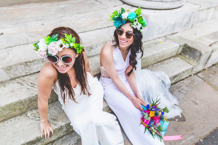 Colourful Alternative Same Sex Wedding Ideas http://www.els-photography.com/