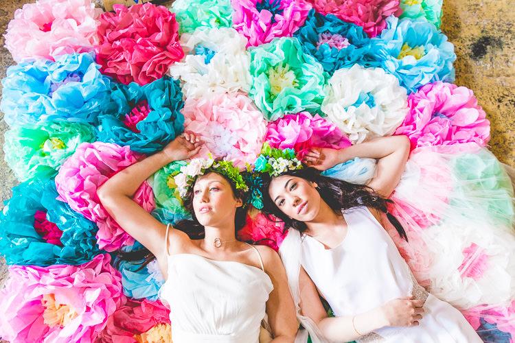 Colourful Alternative Same Sex Wedding Ideas