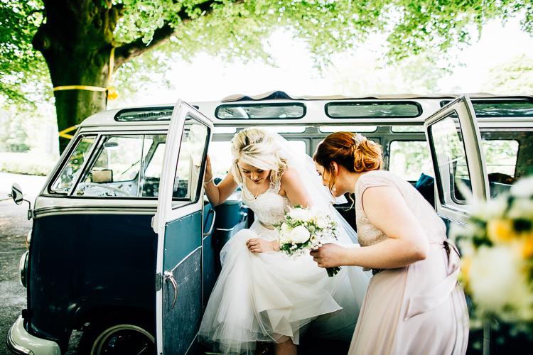 VW Camper Van Dreamy Stylish Barn Wedding http://www.faircloughphotography.co.uk/