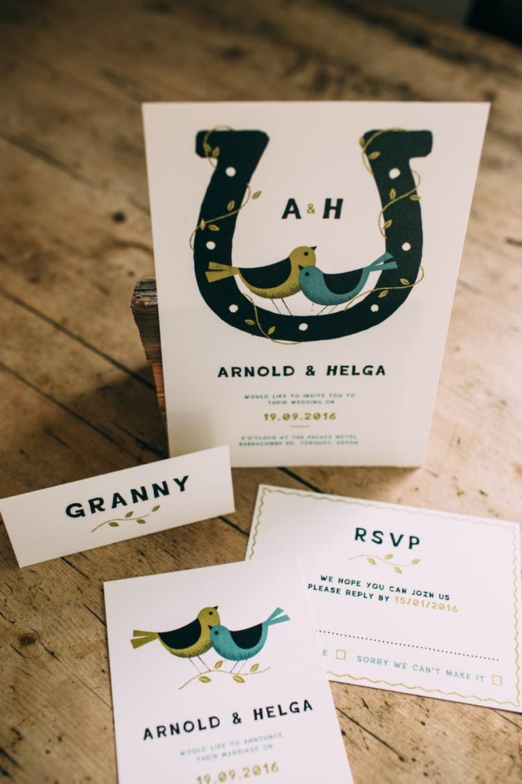 Dearly Beloved Fresh Stylish Design Wedding Stationery Invitations