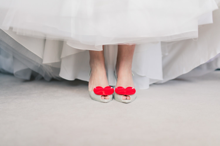Jelly Heart Shoes Bride Bridal Romantic Coral Summer Wedding http://www.ljm-photography.co.uk/
