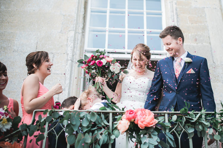 Confetti Throw Romantic Coral Summer Wedding http://www.ljm-photography.co.uk/