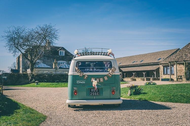 VW Camper Eclectic Colour Pop Barn Wedding http://www.robtarren.co.uk/