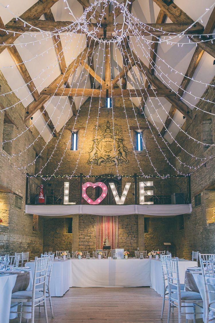 Fairy Lights LOVE Letters Lighting Eclectic Colour Pop Barn Wedding http://www.robtarren.co.uk/