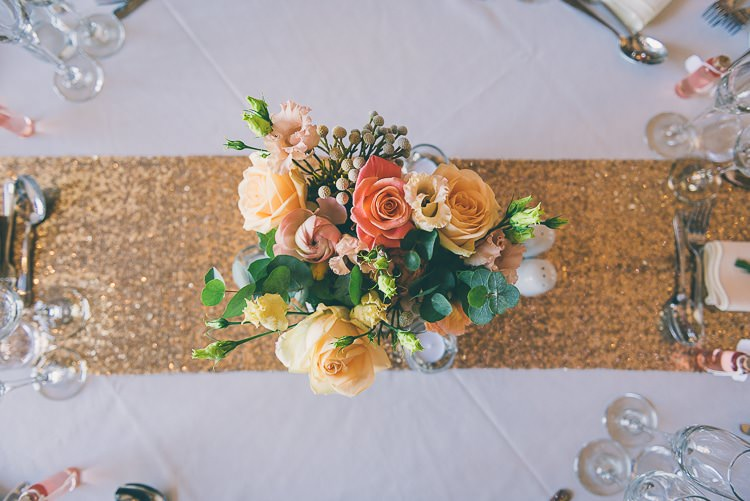 Sequin Table Cloth Runners Flowers Centrepiece Table Decor Eclectic Colour Pop Barn Wedding http://www.robtarren.co.uk/