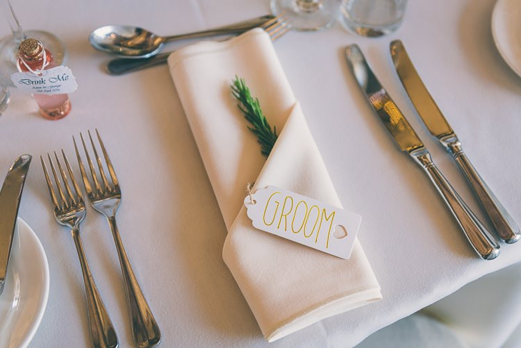 Rosemary Place Name Luggage Tag Setting Eclectic Colour Pop Barn Wedding http://www.robtarren.co.uk/