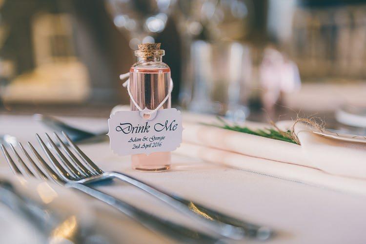Drink Favours Botttles Mini Eclectic Colour Pop Barn Wedding http://www.robtarren.co.uk/