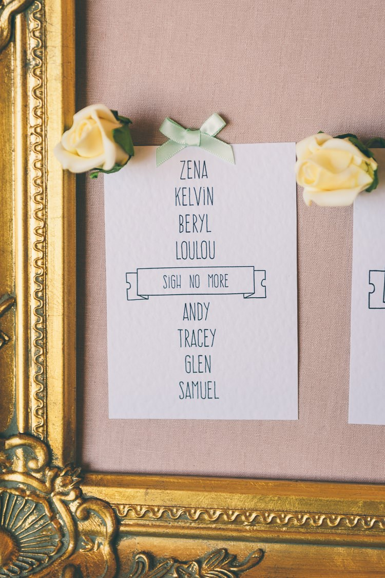 Gold Frame Seating Plan Table Chart Eclectic Colour Pop Barn Wedding http://www.robtarren.co.uk/