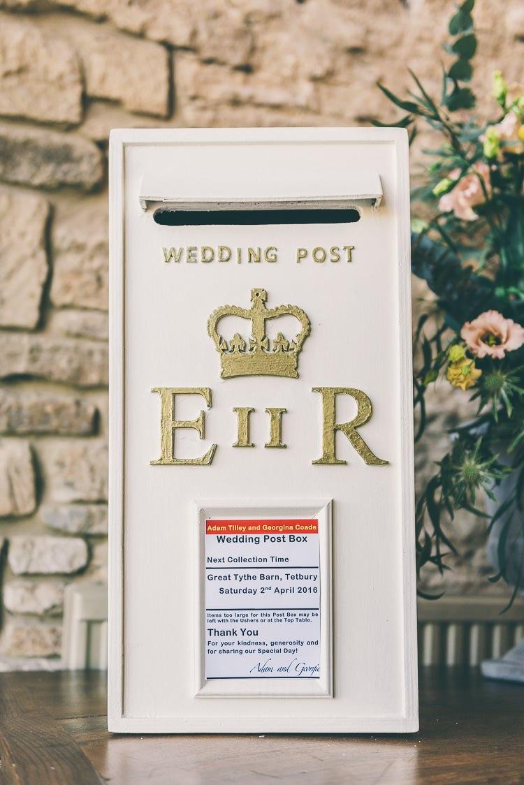 Post Box Cards Eclectic Colour Pop Barn Wedding http://www.robtarren.co.uk/