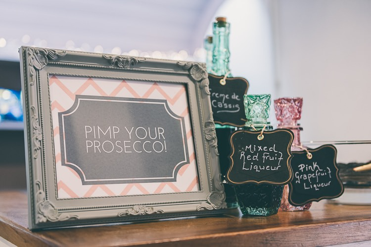 Pimp Your Prosecco Table Stand Bar Station Drinks Cocktails Eclectic Colour Pop Barn Wedding http://www.robtarren.co.uk/