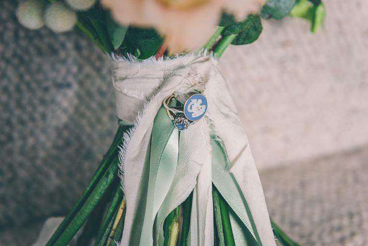 Ring Brooch Bouquet Ribbon Accessory Flowers Bride Bridal Eclectic Colour Pop Barn Wedding http://www.robtarren.co.uk/