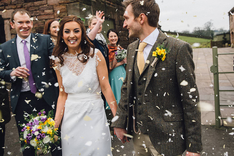 Confetti Vintage Sports Rustic Yellow Barn Wedding http://www.redonblonde.com/