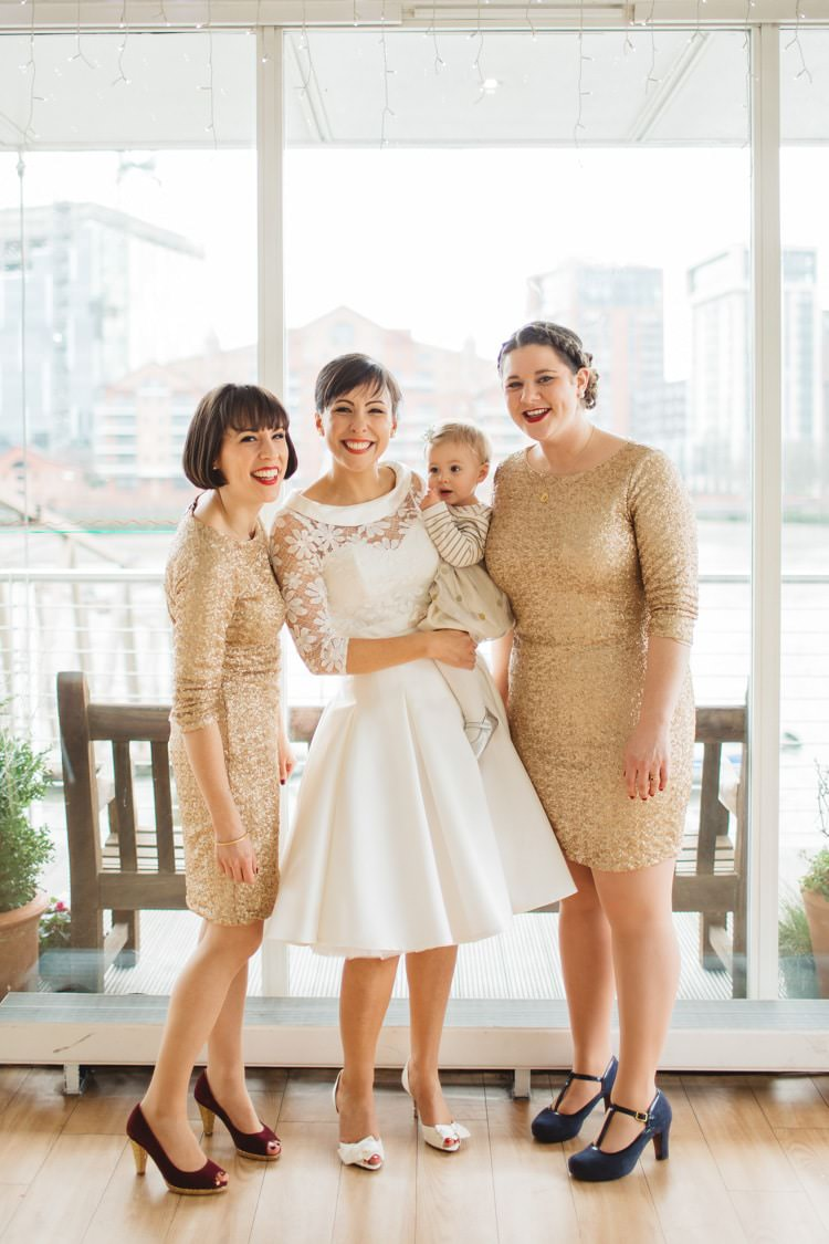 City Chic Wedding Dresses : Gold sequin bridesmaid dresses chic city white wedding http