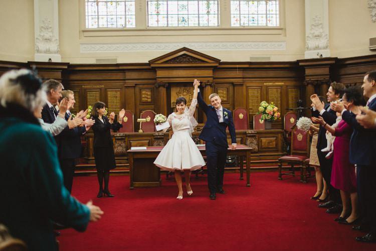 Islington Town Hall London Chic City White Gold Wedding http://www.francessales.co.uk/