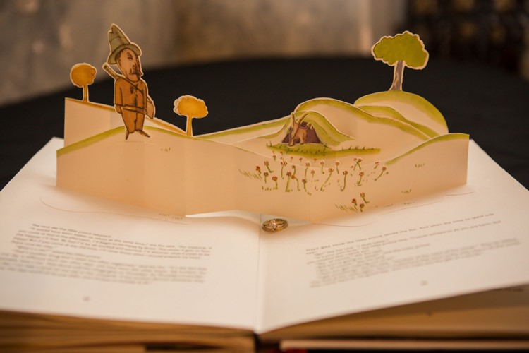Vintage Pop Up Book Wedding Ring Artistic Whimsical Woodland Wedding http://www.adlivcollective.com/