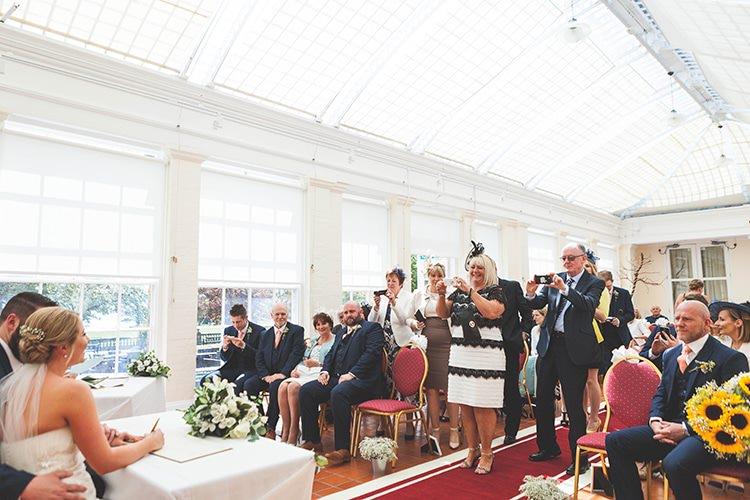 Navy Yellow Sunflowers Brewery Wedding http://www.jemmakingphotography.co.uk/