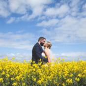 Navy & Yellow Sunflowers Brewery Wedding