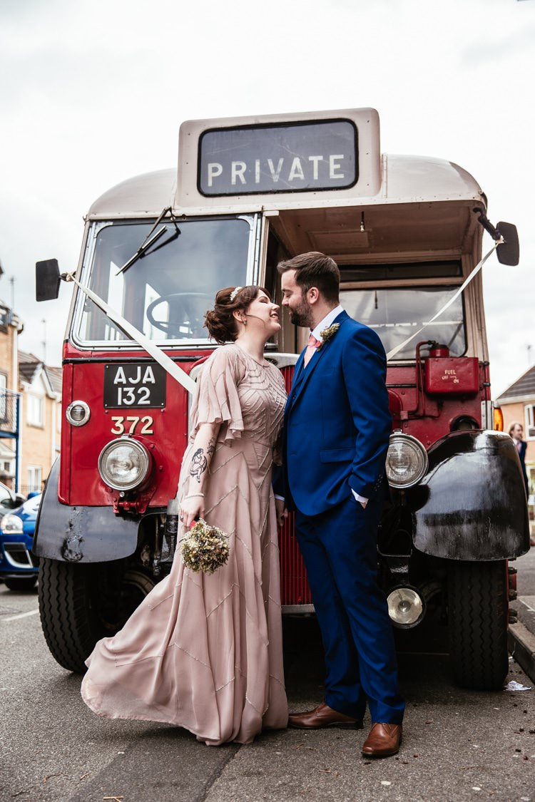 Vintage Bus Transport Quirky Intimate Laid Back Wedding http://www.cassandralane.co.uk/