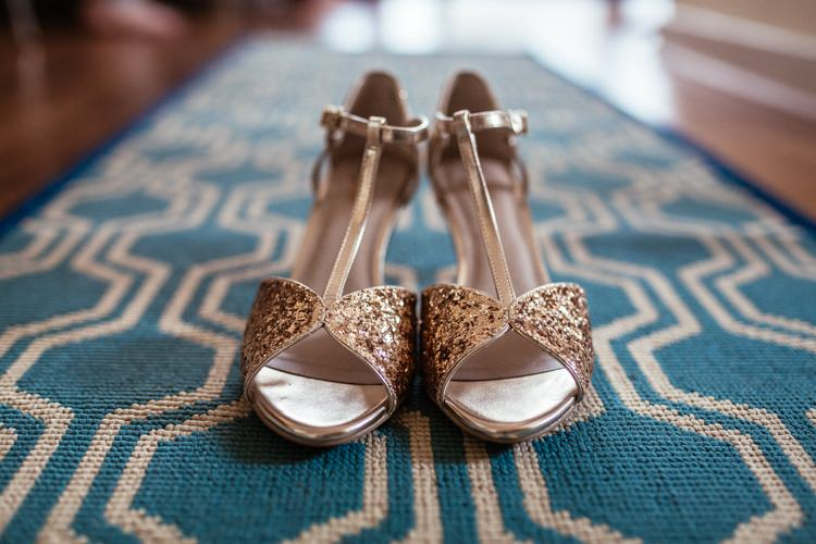 Gold Glitter Heels Shoes Bride Bridal Quirky Intimate Laid Back Wedding http://www.cassandralane.co.uk/