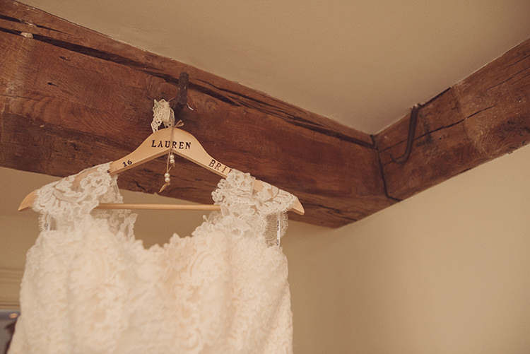 Custom Hanger Dress Bride Bridal Quirky Rustic Natural Winter Wedding http://www.rebeccadouglas.co.uk/